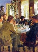 Peter Severin Kroyer The Artists Luncheon oil painting