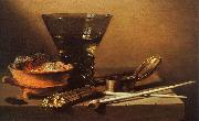 Petrus Christus Still Life with Wine and Smoking Implements oil painting