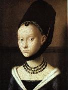 Petrus Christus Portrait of a Young Woman oil on canvas