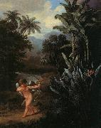 Philip Reinagle Cupid Inspiring the Plants with Love oil