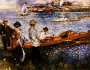 Pierre Renoir Oarsmen at Chatou painting