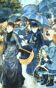 Pierre Renoir Umbrellas oil