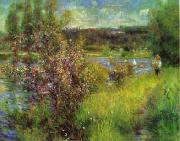 Pierre Renoir The Seine at Chatou oil painting reproduction