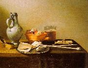 Pieter Claesz Pipes and Brazier oil on canvas