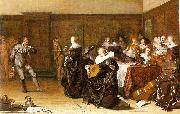 Pieter Codde Dancing Party oil on canvas