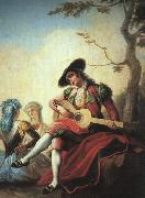 Ramon Bayeu Boy with Guitar oil