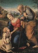 Raphael The Holy Family with a Lamb oil