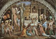 Raphael The Fire in the Borgo oil painting reproduction