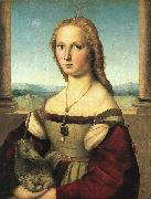 Raphael The Woman with the Unicorn oil