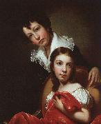 Rembrandt Peale Michael Angelo and Emma Clara Peale oil