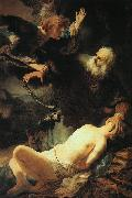 Rembrandt The Sacrifice of Isaac oil painting reproduction