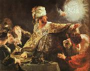 Rembrandt Belshazzar's Feast oil painting reproduction