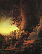 Rembrandt The Risen Christ Appearing to Mary Magdalen oil painting reproduction