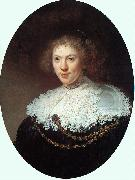 Rembrandt Woman Wearing a Gold Chain oil painting reproduction