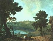 Richard  Wilson Lake Albano and Castel Gandolfo oil