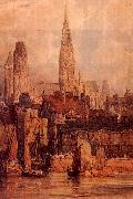 Richard Parkes Bonington Rouen from the Quais oil