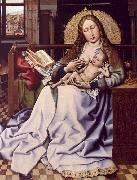 Robert Campin The Virgin and the Child Before a Fire Screen oil on canvas