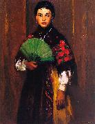 Robert Henri Spanish Girl of Segovia oil