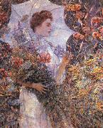 Robert Reid The White Parasol oil