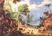 Roelant Savery Landscape w Birds oil