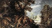 Roelant Savery Landscape with Wild Animals oil