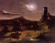 Thomas Cole Moonlight oil painting reproduction
