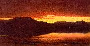 Sanford Robinson Gifford Twilight at Mt Merino oil