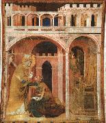 Simone Martini Miracle of Fire oil painting artist