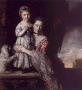 Sir Joshua Reynolds The Countess Spencer with her Daughter Georgina oil