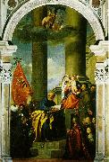 TIZIANO Vecellio Madonna with Saints and Members of the Pesaro Family  r oil painting reproduction