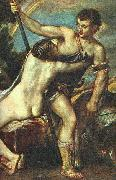 TIZIANO Vecellio Venus and Adonis, detail AR china oil painting artist
