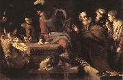 TOURNIER, Nicolas Denial of St Peter er oil painting reproduction