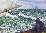 Theo Van Rysselberghe Man at the Helm oil