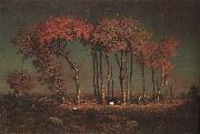 Theodore Rousseau Under the Birches oil painting artist