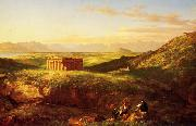 Thomas Cole Temple of Segesta with the Artist  Sketching china oil painting artist