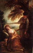 Thomas Gainsborough Haymaker and Sleeping Girl painting
