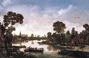 VELDE, Esaias van de Ferry Boat qr oil painting reproduction