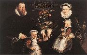 VOS, Marten de Portrait of Antonius Anselmus, His Wife and Their Children wr oil on canvas