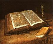 Vincent Van Gogh Still Life with Bible oil painting