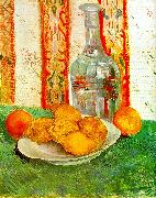 Vincent Van Gogh Still Life with Decanter and Lemons on a Plate oil painting