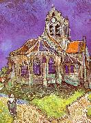 Vincent Van Gogh Church at Auvers oil painting