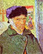 Vincent Van Gogh Self Portrait With Bandaged Ear oil painting