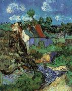 Vincent Van Gogh Houses in Auvers oil painting
