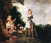 WATTEAU, Antoine The Dance oil painting reproduction