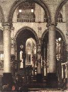 WITTE, Emanuel de Interior of a Church oil painting reproduction