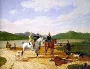 Wilhelm von Kobell Hunting Party on Lake Tegernsee painting