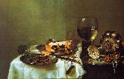 Willem Claesz Heda Breakfast Still Life with Blackberry Pie oil on canvas