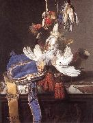 Willem van Hunting Still-Life painting
