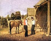 William Sidney Mount horse dealers painting