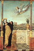 Braccesco, Carlo di The Annunciation oil on canvas